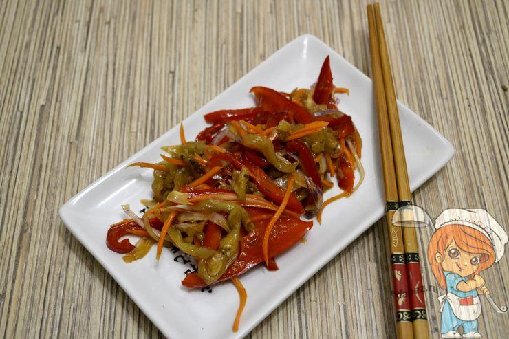 Салат баклажаны по-корейски, как приготовить быстро и вкусно