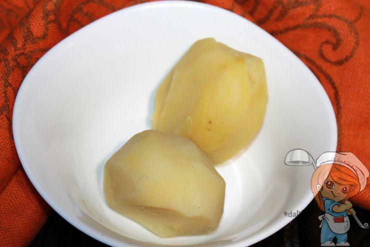 Чистим отварную картошку
