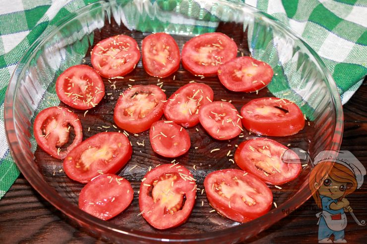 Первый слой томаты