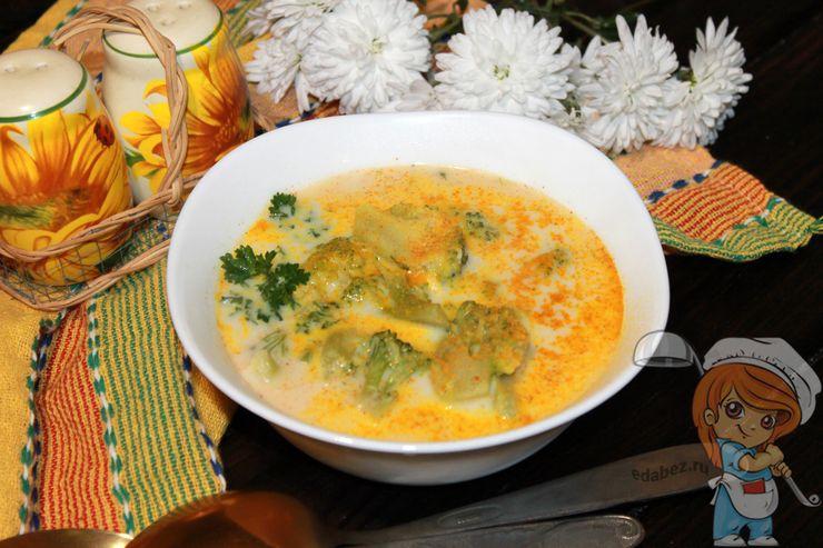 Сырный суп с брокколи, рецепт с фото