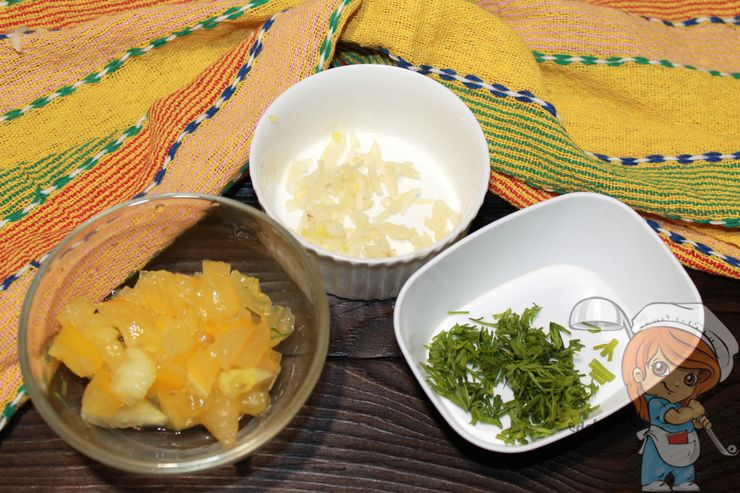 Чистим и режем овощи и зелень