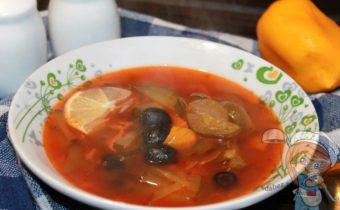 Овощная солянка, постный суп