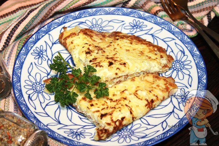 Омлет с кабачками и сыром, рецепт на сковороде