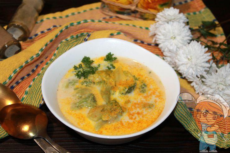 сырный суп с брокколи и плавленным сырком