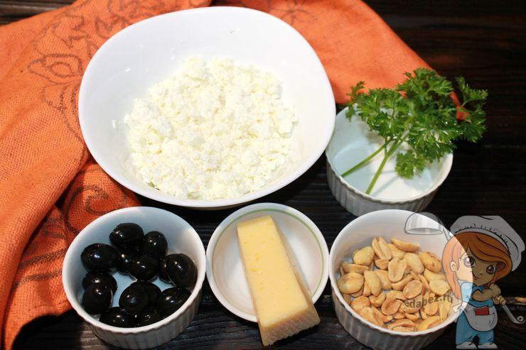 Ингредиенты для сырных шариков
