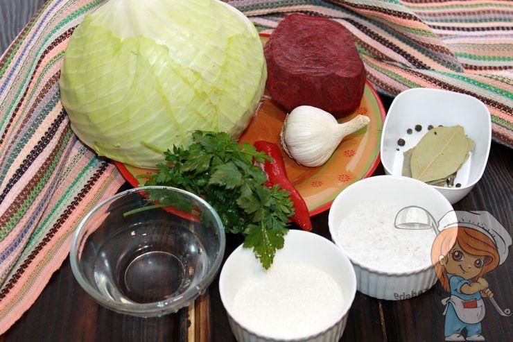 Ингредиенты для капусты по-армянски