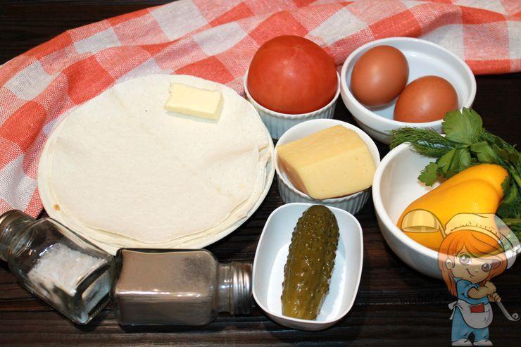 Ингредиенты для приготовления ленивого лаваша