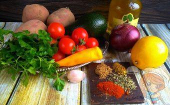 Продукты для приготовления соуса из авокадо