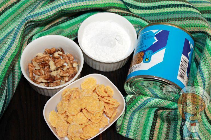 Ингредиенты для шишек без выпечки