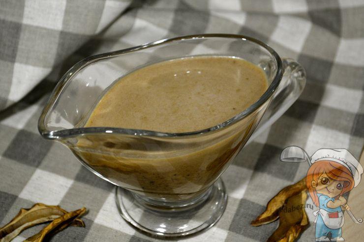Грибной соус из сушенных грибов, рецепт как приготовить