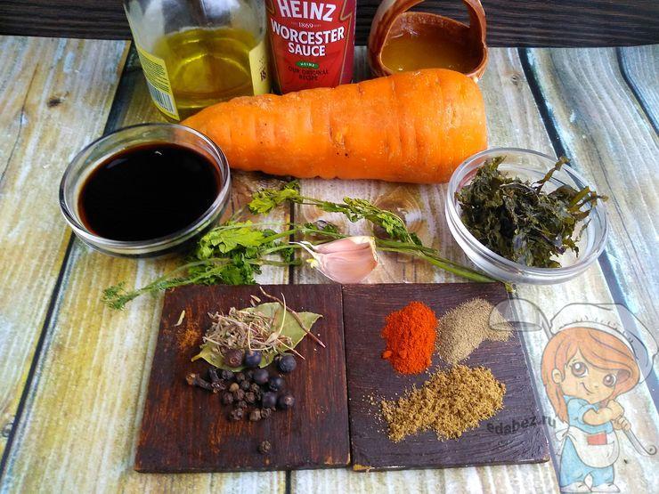 Ингредиенты для запекания вегетарианской рыбы