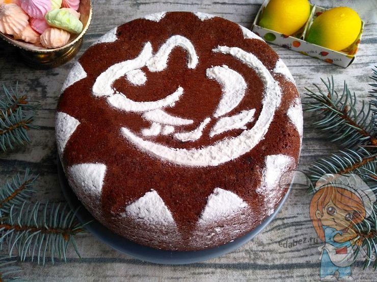Шоколадный торт без яиц на Новый год