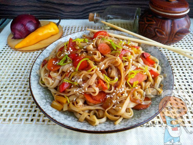 Китайская лапша с овощами, рецепт с фото