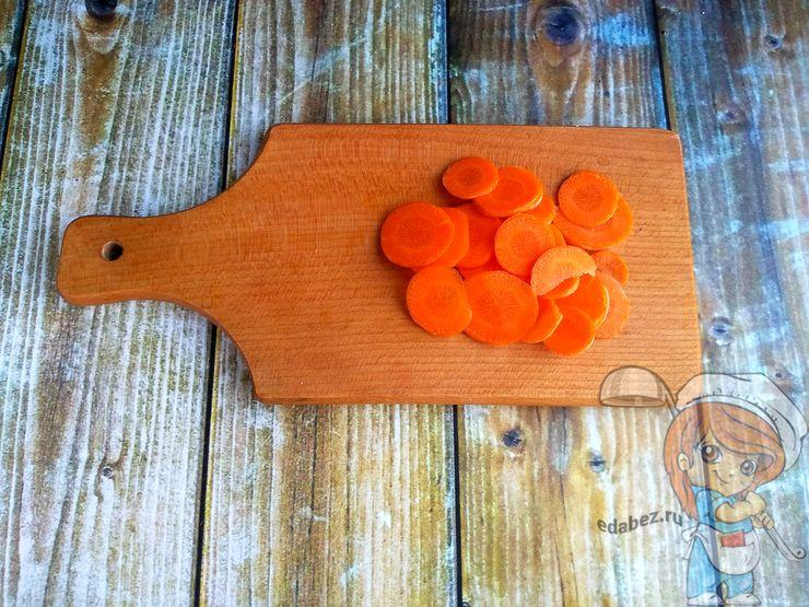 Морковь слайсами