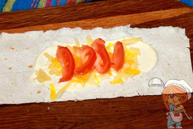 Немного перца и помидоры