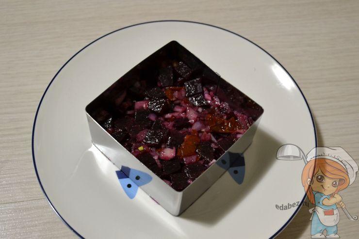 Заполняем форму салатом