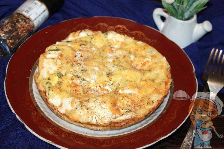 Сырный пирог из лаваша, рецепт с фото