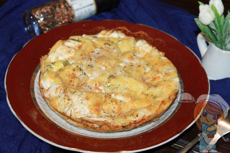 Пирог из лаваша с сыром, рецепт с фото
