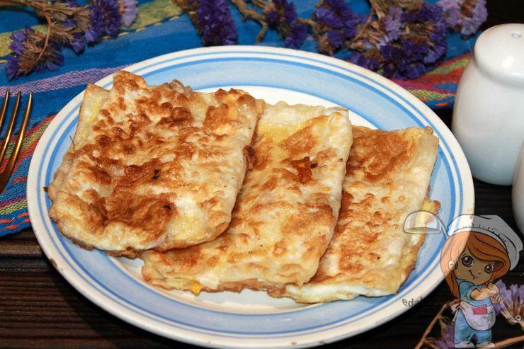 Завтрак из тонкого лаваша, простой рецепт