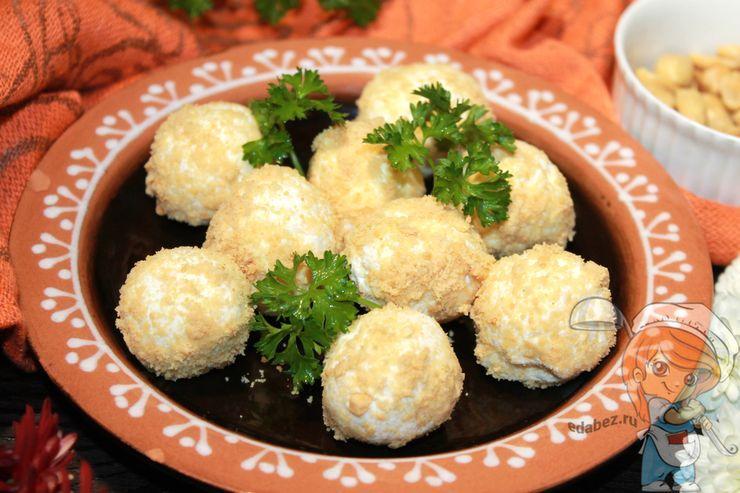 Сырные шарики, рецепт закуски