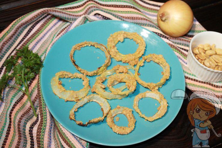 Луковые кольца в духовке, рецепт с фото