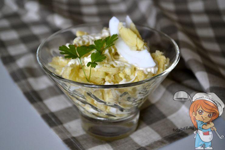 Салат с ананасом и сыром без курицы, рецепт с фото