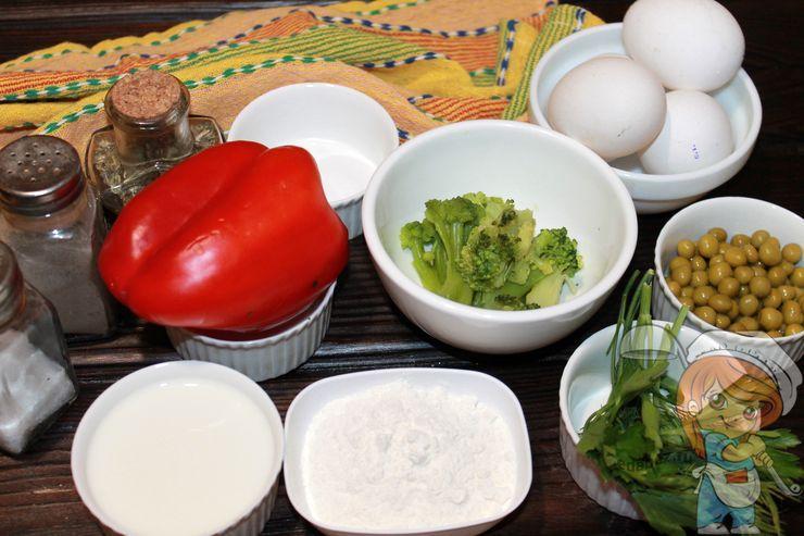 Ингредиенты для яичной запеканки