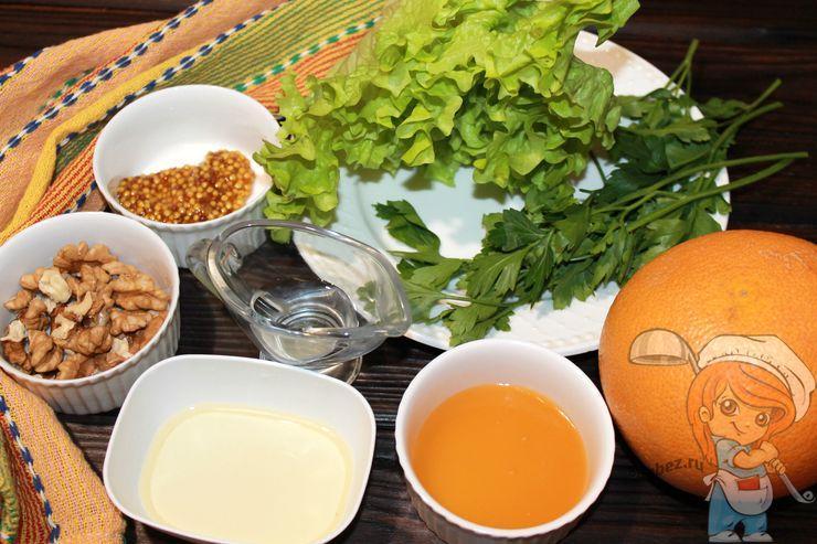 Ингредиенты, для приготовления салата