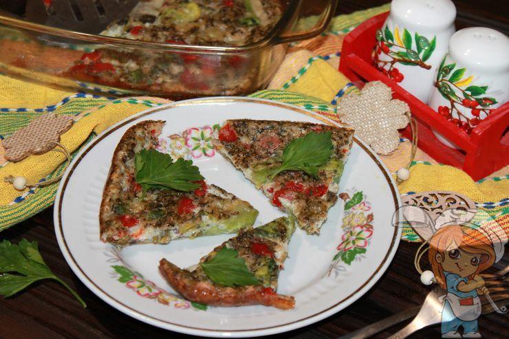 Яичная запеканка с овощами, пошаговый рецепт приготовления в духовке