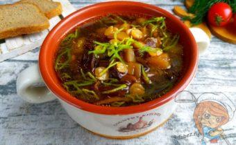 Гороховый суп с грибами без мяса, рецепт с фото
