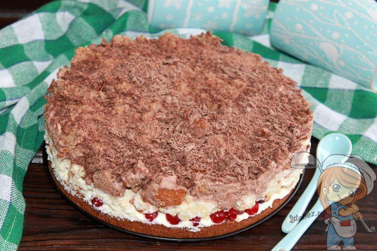 Клюквенный торт, рецепт с фото