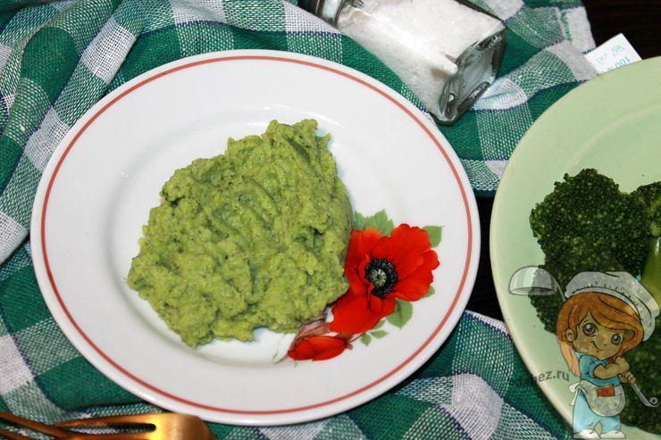 Пюре из брокколи, рецепт как приготовить