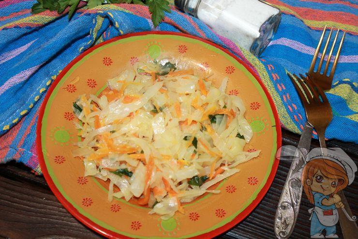 Тушеная капуста в духовке, рецепт с фото