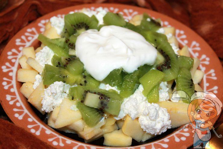 Пошаговый рецепт салата с киви