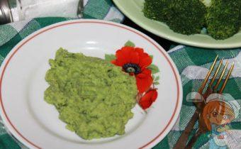 Пюре из брокколи, рецепт с фото
