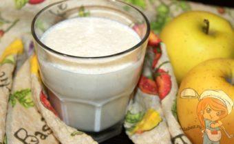 Молочно творожный коктейль с яблоком