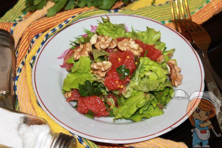 Салат с грейпфрутом, рецепт с фото