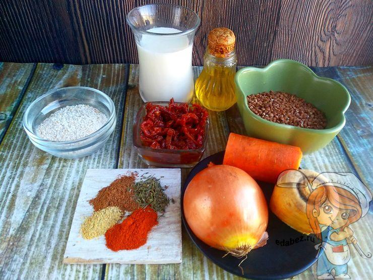 Продукты для оладий из гречки