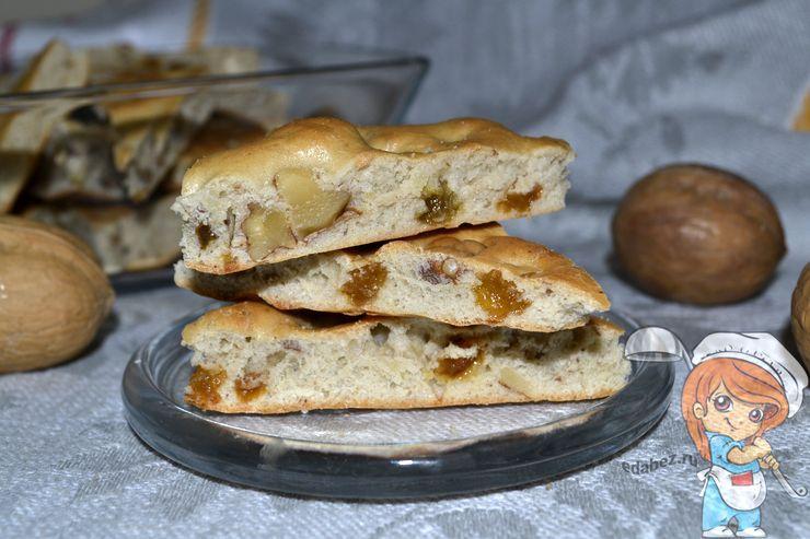 Рецепт мазурок, печенье с изюмом и грецкими орехами