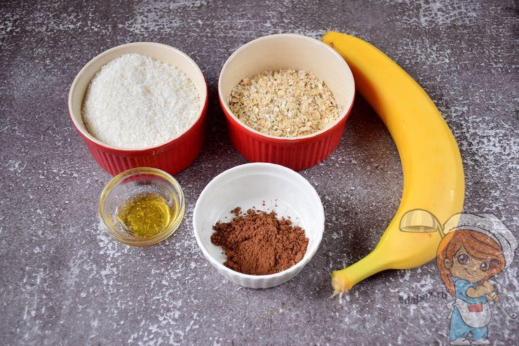 Ингредиенты для овсяного печенья без сахара