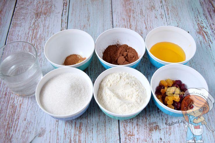 Ингредиенты для медовых кексов