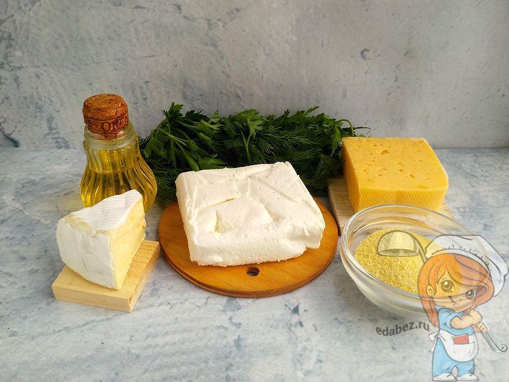 Ингредиенты для соленых сырников
