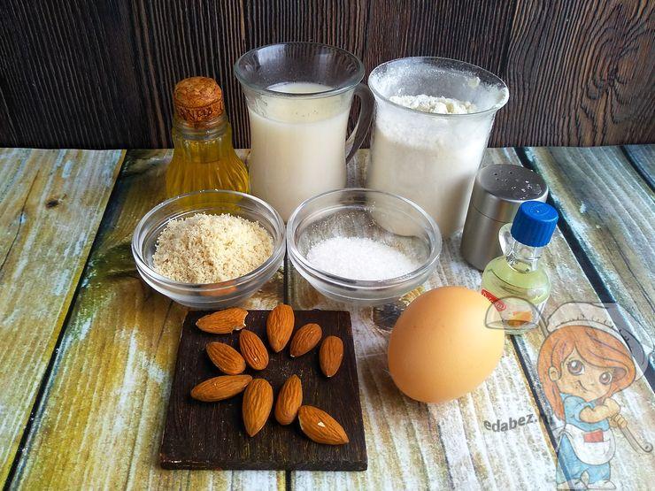 Ингредиенты для блинов из миндальной муки