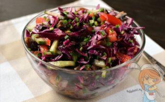 простой салат из синей капусты