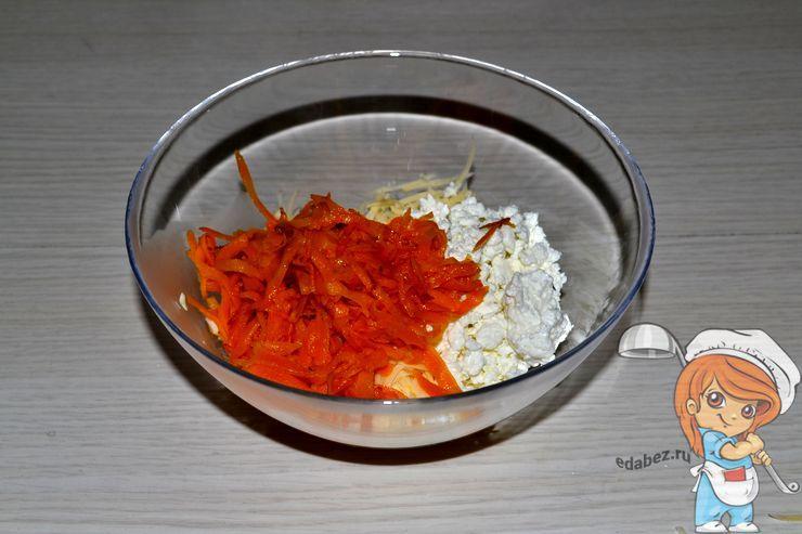 Добавляем морковь к творогу