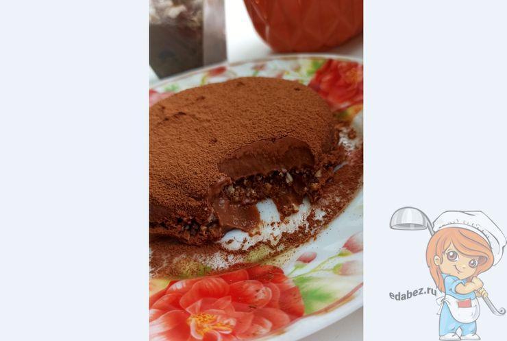 шоколадно-банановые десерт без выпечки, рецепт с фото