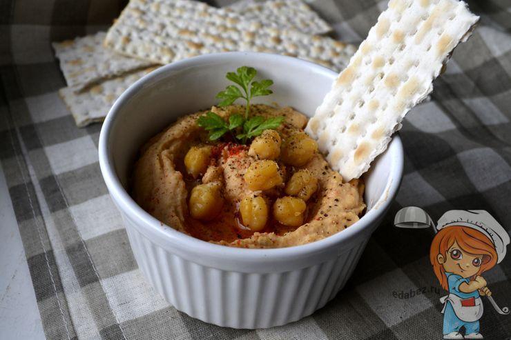 Хумус с вялеными помидорами, рецепт с фото