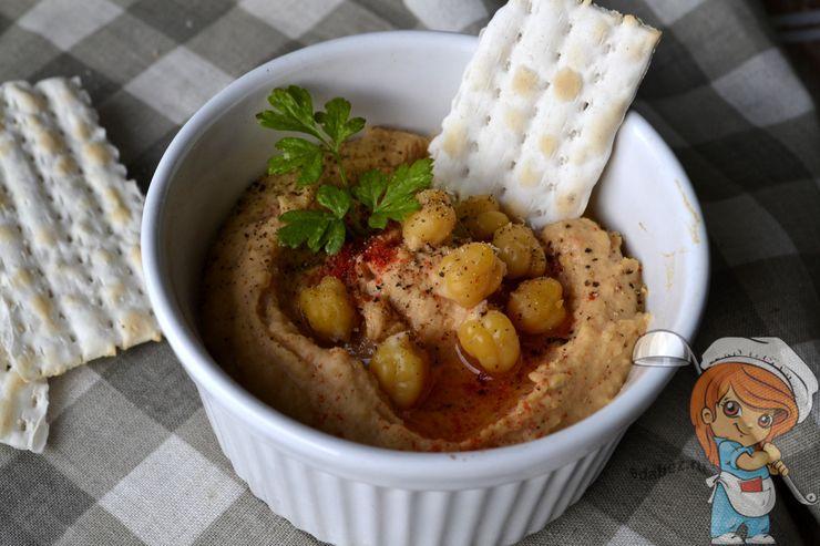 Хумус с вялеными помидорами, пошаговый рецепт с фото
