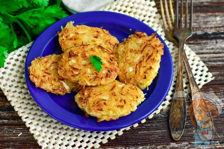 Очень вкусные капустные оладьи, рецепт с фото