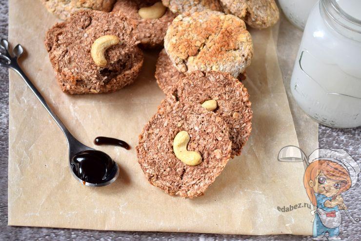 Овсяное печенье без сахара и без яиц